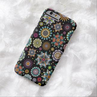 Noir de motif de griffonnage de fleur de style de coque barely there iPhone 6