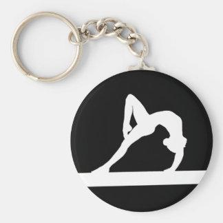 Noir de porte - clé de silhouette de gymnaste porte-clés