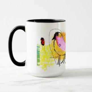 """Noir """"de poussin de Lov"""" tasse combinée de 15"""