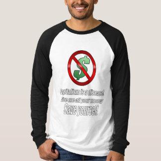 Noir de sport de capitalisme t-shirts