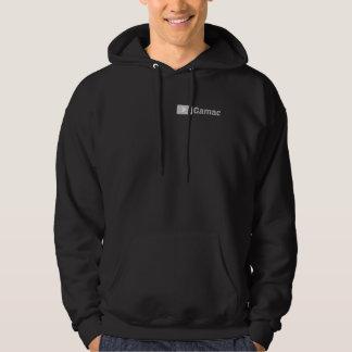 Noir de T-shirt de Gamac avec le logo gris