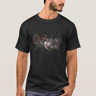 Noir de T-shirt de l'écrasement de la sirène