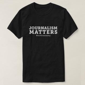 Noir de T-shirt de sujets du journalisme des