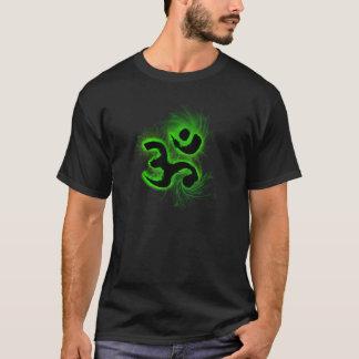 Noir de T-shirt de vortex de l'OM
