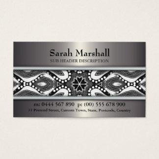 Noir de tribal+Blanc et métallique avec la voiture Cartes De Visite