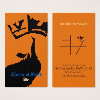 Noir de trône sur le carte de visite orange