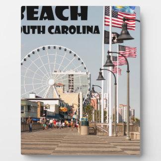 Noir de vacances de la Caroline du Sud de Impressions Sur Plaque