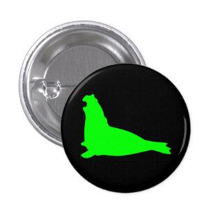 Noir de vert de bouton de joint d'éléphant pin's