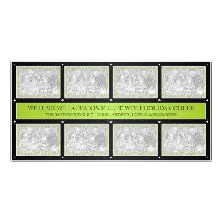 Noir de vert de chaux de collage de cadre de Noël Cartes Avec Photo