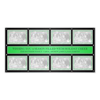 Noir de vert de collage de cadre de Noël Modèle Pour Photocarte