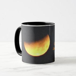 Noir d'éclipse de lune tasse combinée de 11 onces