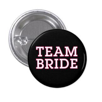 Noir d'ensemble de rose de jeune mariée d'équipe badge rond 2,50 cm