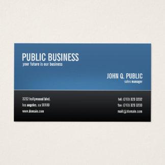 Noir d'entreprise moderne et bleu cartes de visite