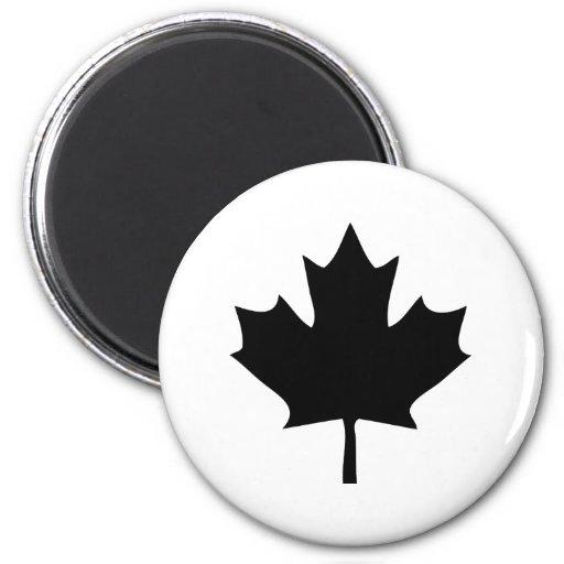 noir d'icône de feuille d'érable du Canada Aimant Pour Réfrigérateur