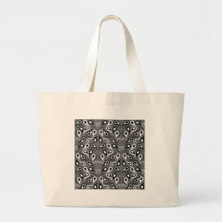 Noir d'impression de conception de motif de grand tote bag