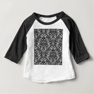 Noir d'impression de conception de motif de t-shirt pour bébé