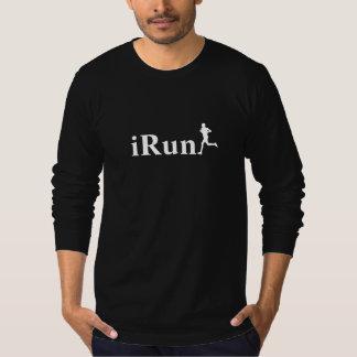noir d'Irun courant la longue chemise de douille T-shirt