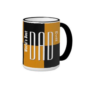 NOIR d'OR à la mode des textes d'empire du meilleu Mugs À Café