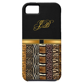 noir d'or de cas de Coque-Compagnon d'iPhone iPhone 5 Case