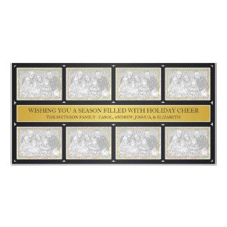 Noir d'or de collage de cadre de Noël Photocartes Personnalisées