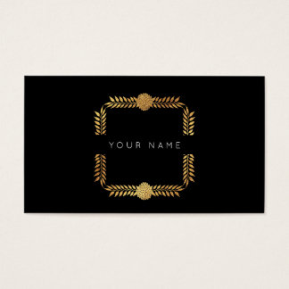 Noir d'or VIP d'aluminium de laurier de roses Cartes De Visite