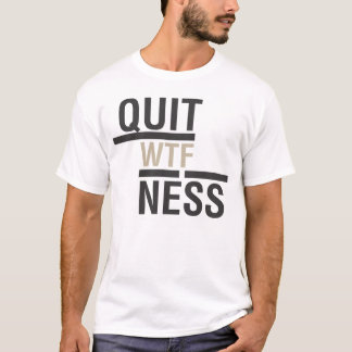 Noir du T-shirt 2 de Quitness