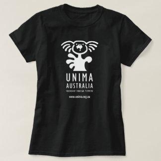 Noir du T-shirt des femmes d'UNIMA Australie