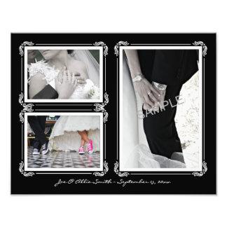 Noir élégant/blanc 11 x collage l'épousant de la photographies