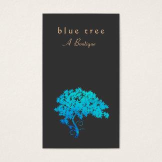 Noir élégant de logo d'arbre de zen de turquoise cartes de visite