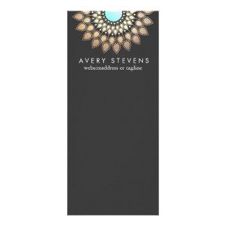 Noir élégant d'or de motif floral élégant de Lotus Double Carte