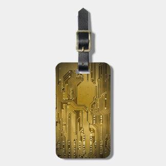 Noir élégant frais de carte d'or de Faux Étiquette À Bagage