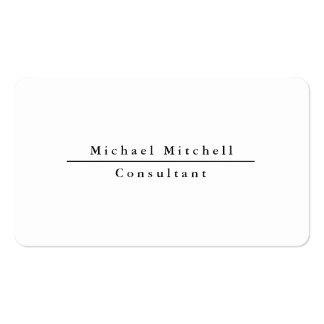 Noir élégant simple simple professionnel et blanc carte de visite standard