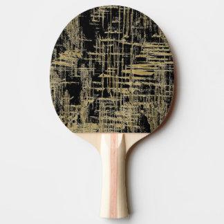 Noir et art moderne d'or raquette de ping pong