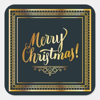 Noir et autocollants élégants de Noël d'or