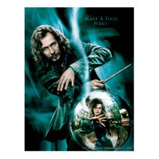 Noir et Bellatrix Lestrange de Sirius Carte Postale
