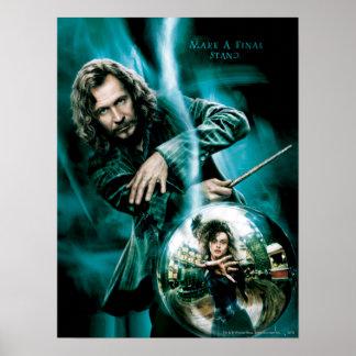 Noir et Bellatrix Lestrange de Sirius Posters