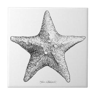Noir et blanc d'art de plage d'océan de dessin petit carreau carré