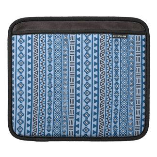 Noir et blanc de bleus aztèques de motif de style housses iPad