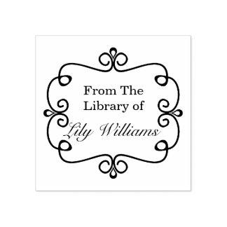 Noir et blanc de la bibliothèque de l'ex-libris