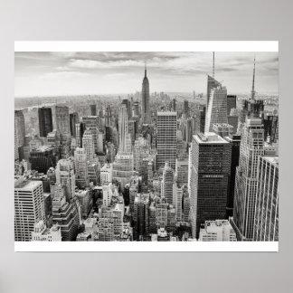 Noir et blanc de New York City Poster