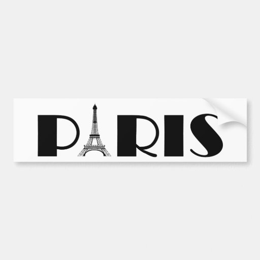 Noir et blanc de Paris de Tour Eiffel Autocollant Pour Voiture