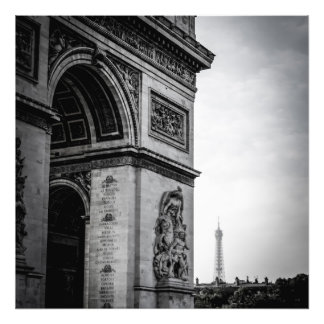 Noir et blanc de Paris Impression Photo