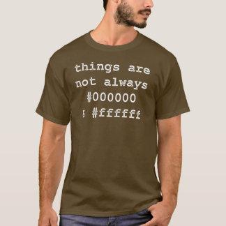 Noir et blanc de programmeur de promoteur t-shirt