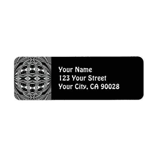 noir et blanc étiquette d'adresse retour