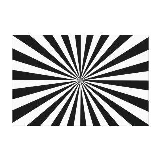 Noir et blanc étirés d'impression de toile toiles