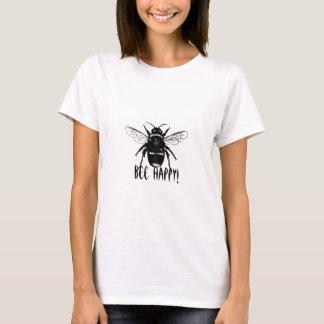 noir et blanc gaffez l'abeille sur les T-shirts de