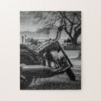 Noir et blanc, motocyclette puzzle