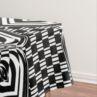 Noir et blanc nappe