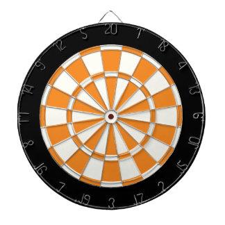 Noir et blanc orange jeux de fléchettes
