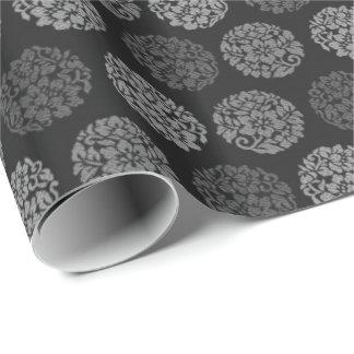 Noir et blanc papier cadeau